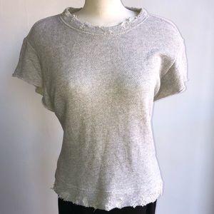 R13 Distressed Sweatshirt, S